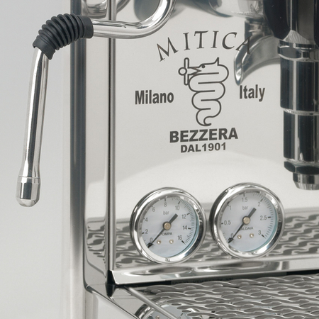Bezzera Mitica PID V2 Espresso Machine  - pressure gauges detail - at Total Espresso