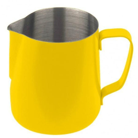 STEAMING AND FROTHING MILK PITCHER-2 Sizes, Yellow - at Total Espresso