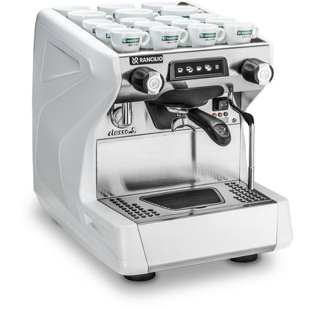 Rancilio Classe 5 ST 1 Group (HX) Commercial Espresso Machine - white - at Total Espresso