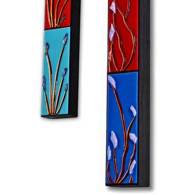 "Vertical 4 FT Floral Wall Art ""Buddies Series"" - Made to Order"