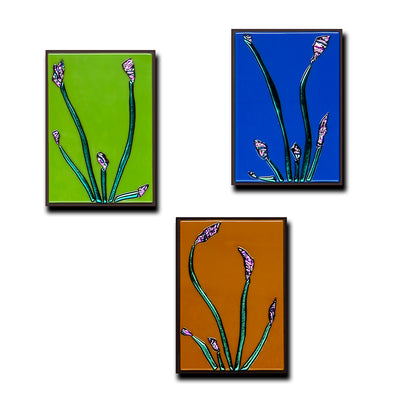 "Small Floral Gallery Wall Panels Set of 3 ""Buddies Series"" - Made to Order"