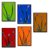 "Floral Gallery Wall Panels Set of 5 ""Buddies Series"" - Made to Order"