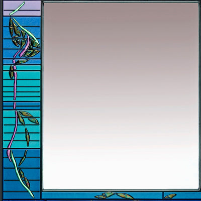 "Abstract Glass Art Mirror ""Cascade Series"" - Made to Order"