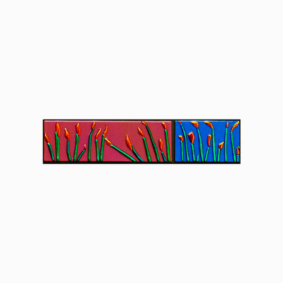 "Horizontal 4 FT Floral Wall Art ""Buddies Series"" - Made to Order"