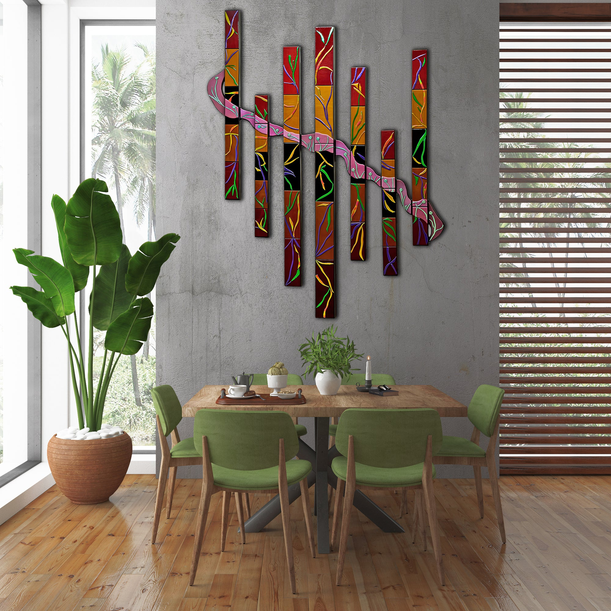 Extra Large Abstract Wall Art Set Of 7 Entwined Series Made To Order