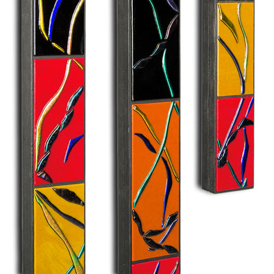"Large Flowing Abstract Wall Art Set of 5 ""Go With The Flow Series"" - Made to Order"