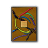 "Small Flowing Abstract Wall Art Panel ""Go With The Flow Series"" - Made to Order"