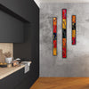 "Large Flowing Abstract Wall Art Set of 3 ""Go With The Flow Series"" - Made to Order"