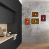 "Abstract Gallery Wall Panels Set of 4 ""Go With The Flow Series"" - Made to Order"
