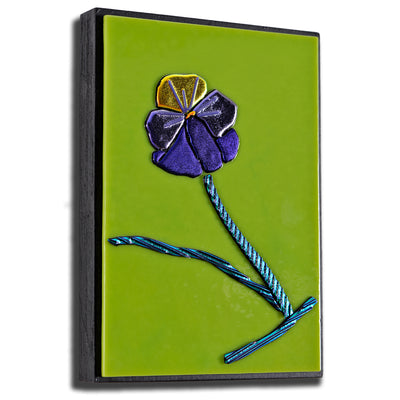 Small Floral Wall Art - Pansy | Viola Bicolor - Ready to Ship
