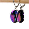 Oval Ultraviolet Earrings - Stainless Steel Lever Backs