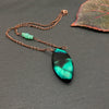 Tahiti Copper Wire Wrapped Necklace - Chrysoprase