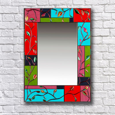 "Nature Inspired Wall Mirror ""Turning Leafs Series"" - Made to Order"
