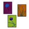 Small Floral Gallery Wall Panels Set of 3 - Made to Order