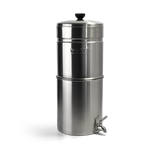 "Propur Pro One® Big+Stainless Steel Gravity Water System with 2 Pro One G2.0 9"" Filters in Brushed Finish"