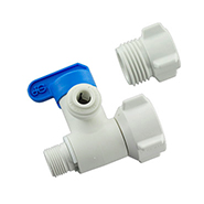 "AlkaViva 3/8"" or 1/2"" Angle Stop Valve / Splitter to 1/4"" Line - Purely Water Supply"
