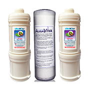 AlkaViva H2 Ionizer Series UltraWater Fluoride Replacement Filter Package - Purely Water Supply
