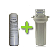 AlkaViva UltraRAD Plus Replacement Filter with External Housing for Non-Electric Water Ionizers - Purely Water Supply