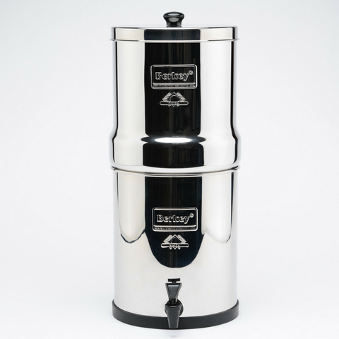 Big Berkey Water Filter 2.25 gal with 4 Black Berkey Purification Elements (BK4X4-BB) - Purely Water Supply