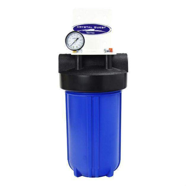 Crystal Quest Compact Whole House Water Filter Blue Single Smart Series (3-6 GPM) (CQE-WH-01104) - Purely Water Supply