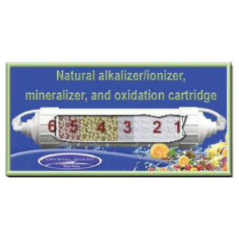 Crystal Quest Natural Alkaline Ionizer, Mineralizer and Oxidation Inline Cartridge (CQE-RC-04054) - Purely Water Supply