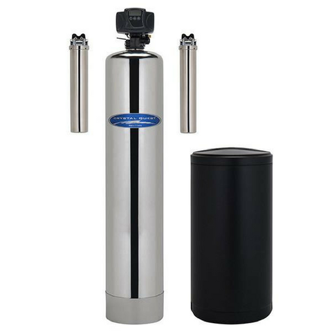 Crystal Quest Stainless Steel 1.5 Cubic Feet SMART Turbo Lead Removal and Softening Whole House Water Filter (CQE-WH-01285) - Purely Water Supply