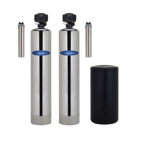 Crystal Quest Water Softener and Iron, Manganese, Hydrogen Sulfide Removal Whole House Water Filter - Purely Water Supply