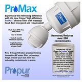 Propur 3-Function Shower Massage Head with ProMax Filter - Purely Water Supply