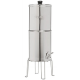 "Propur Original 304 Big Stainless Steel Gravity Water System with 2 ProOne G2.0 7"" Filters in Polished Finish - Purely Water Supply"