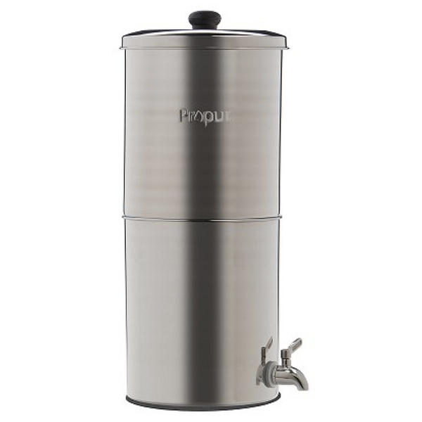 "Propur Original 304 Nomad Stainless Steel Gravity Water System with 1 ProOne G2.0 5"" Filter in Brushed Finish - Purely Water Supply"