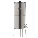 "Propur Original 304 Nomad Stainless Steel Gravity Water System with 2 ProOne G2.0 5"" Filters in Brushed Finish - Purely Water Supply"