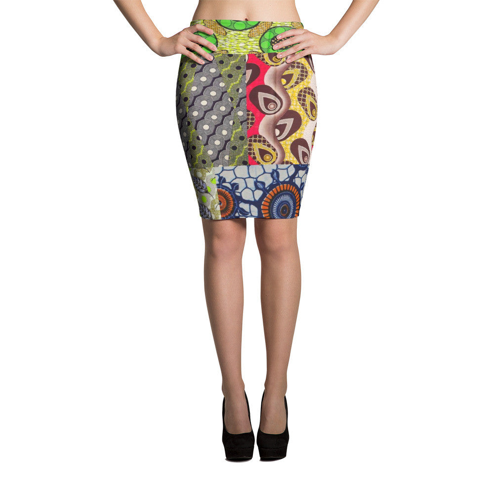 Ankara Max-Riot Pencil Skirt