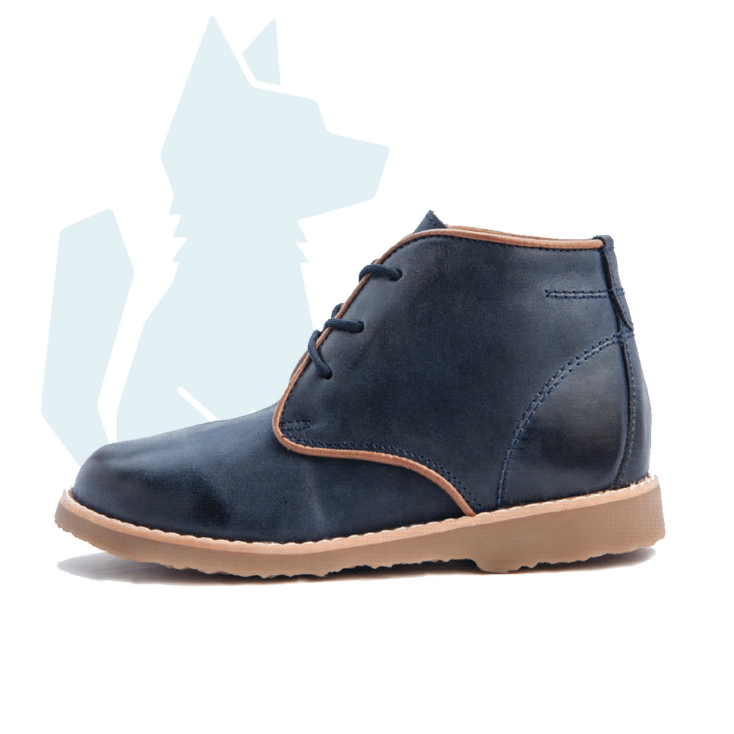 ESLO Children's Blue Leather Chukka Boot