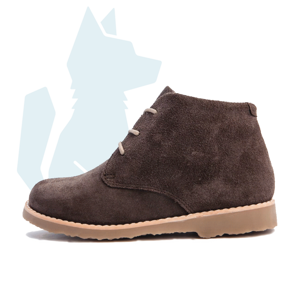 ESLO Children's Dark Brown Suede Chukka Boot