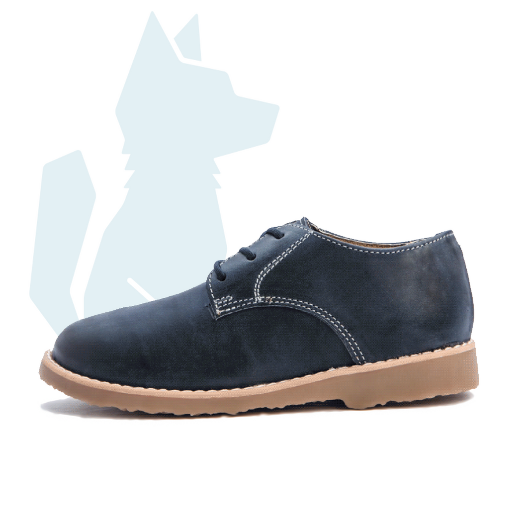 ESLO Children's Blue Leather Derby Shoe