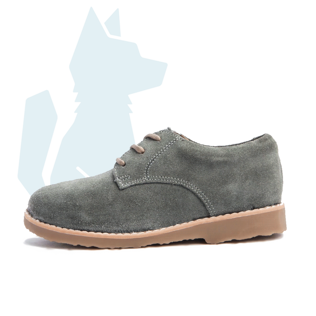 ESLO Children's Grey Suede Derby Shoe