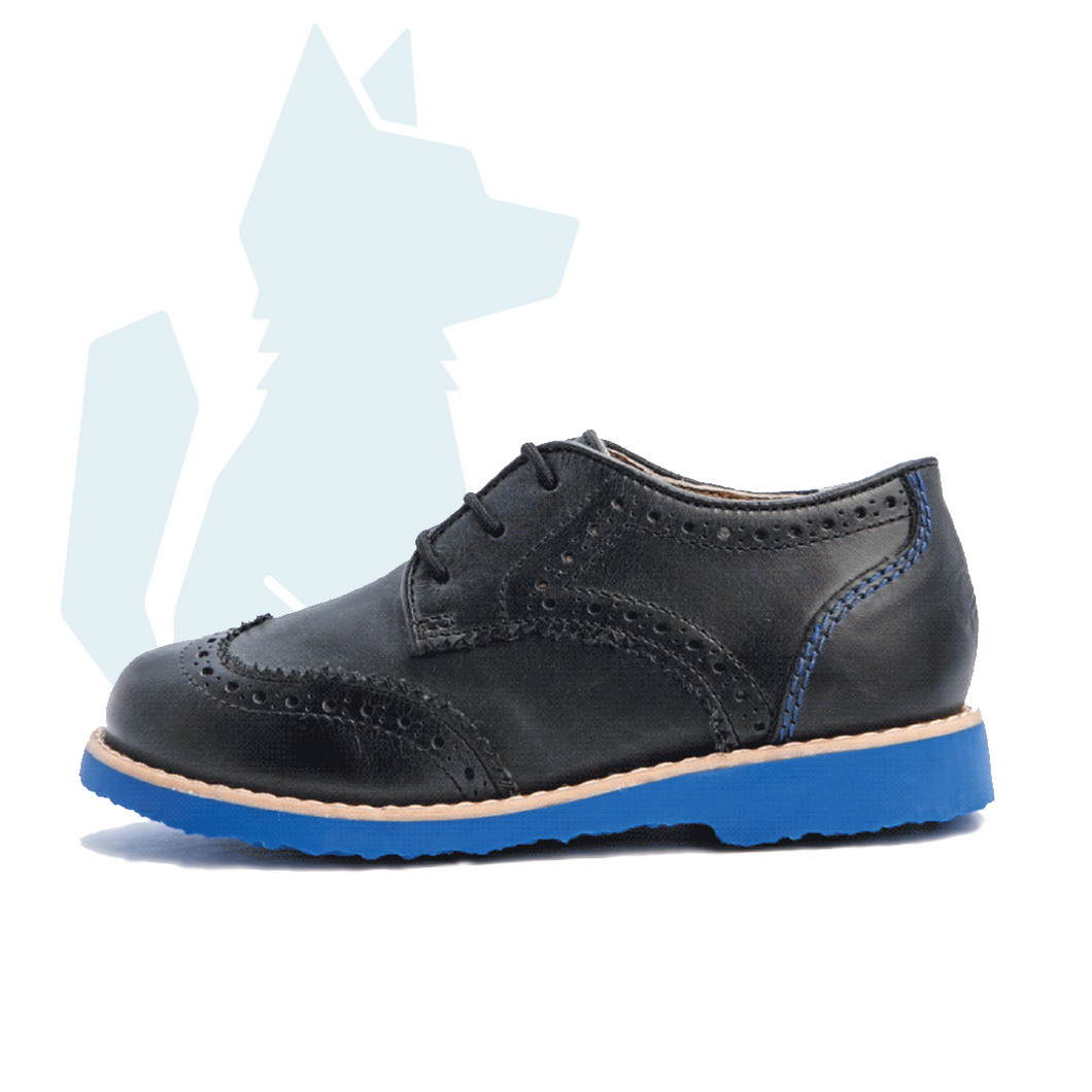 ESLO Children's Black Leather Wingtip Shoe