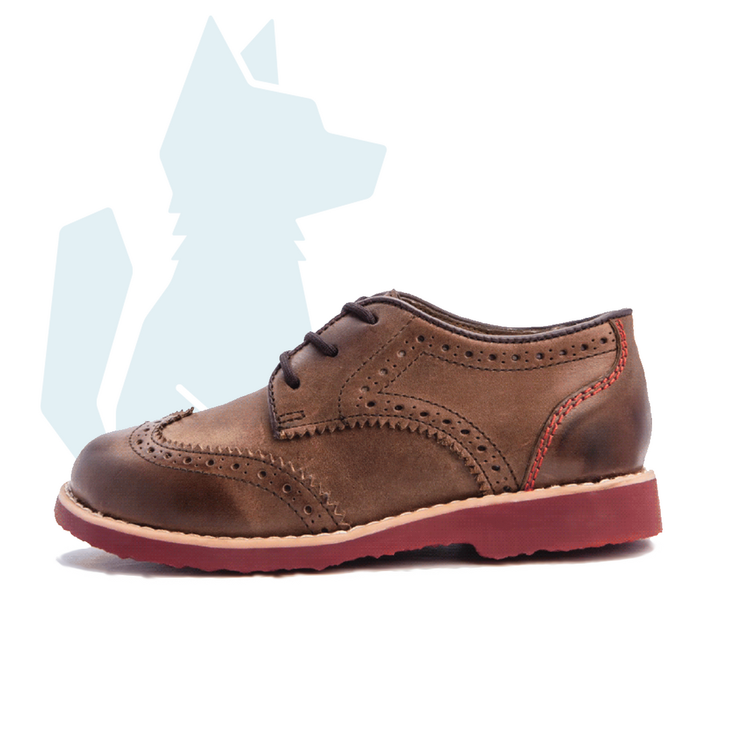 Children's ESLO Brown Leather Wingtip