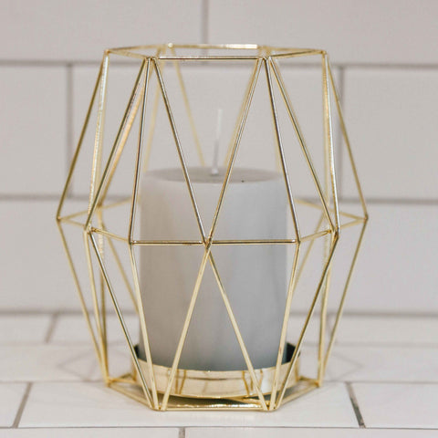 Geometric Metal Votive