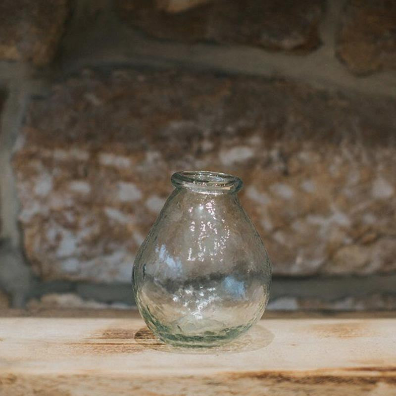 Recycled Small Glass Vase