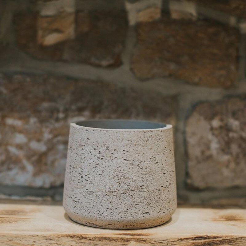 Tapered Large Stone Cement Pot