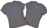 Zup Super Soft Womens Crew T-Shirt - Small / Grey Frost - Zup Swag