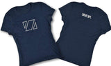 Zup Super Soft Womens Crew T-Shirt - Small / Navy Frost - Zup Swag