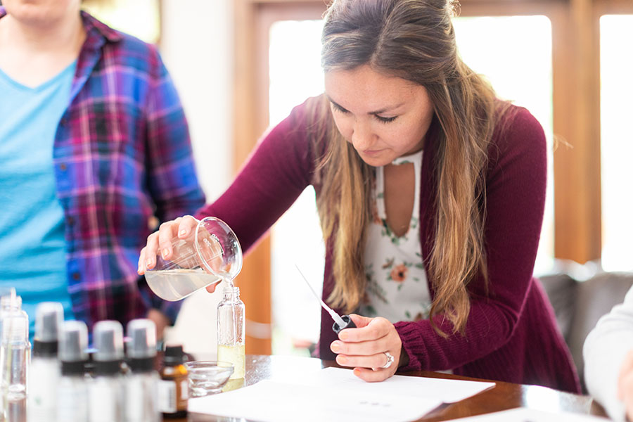 Offer essential oils as complementary options for patients