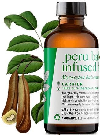 peru balsam infused jojoba oil