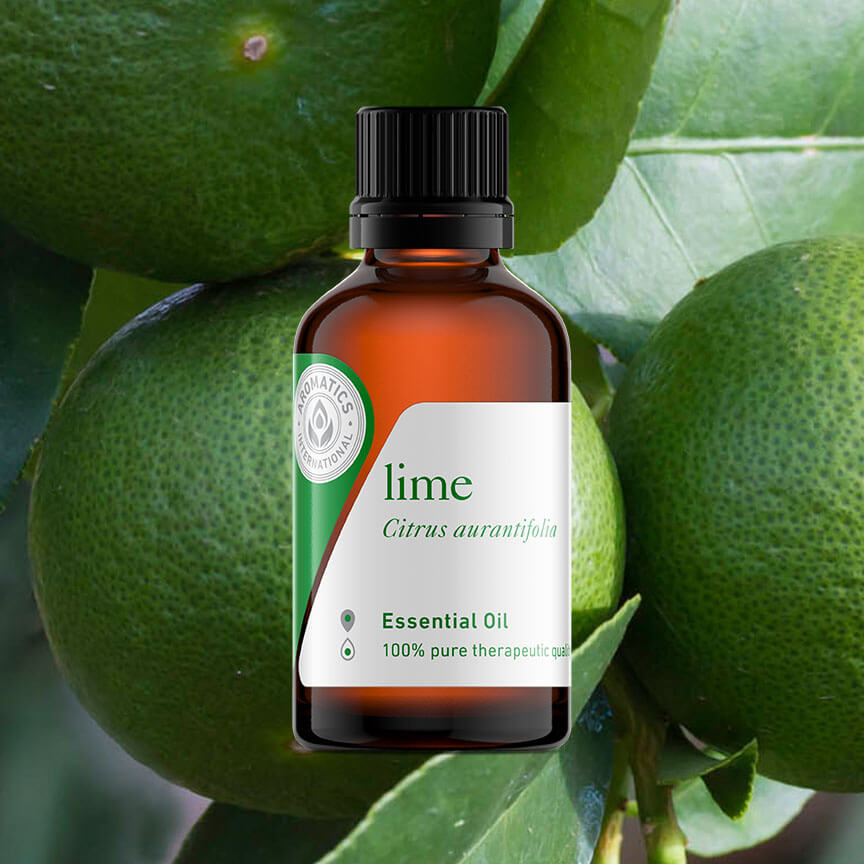 essential oils for st. patrick's day lime oil