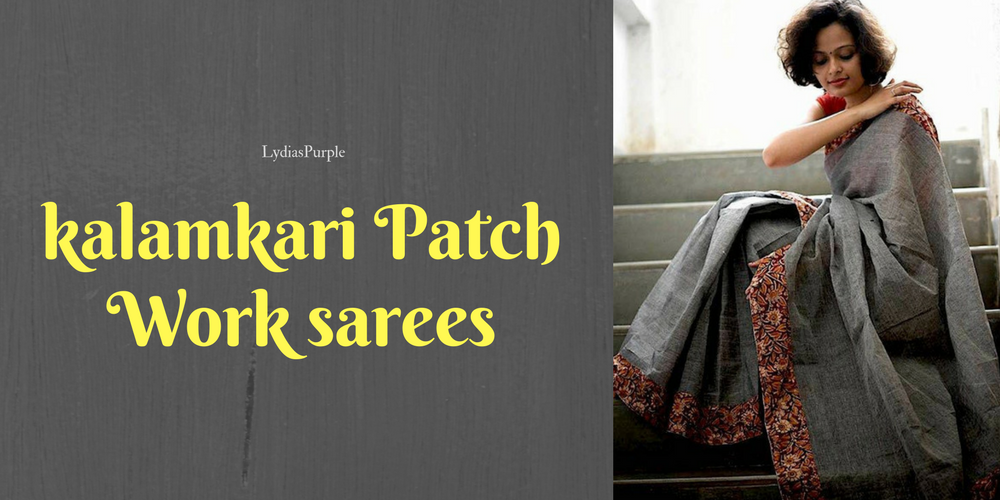 kalamkari patch work sarees