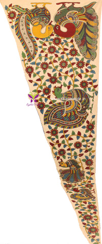 KSP03-Kalamkari patch for saree - Lydiaspurple