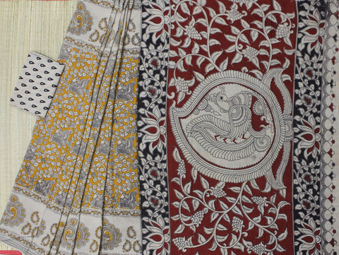 kalamkari cotton saree - lydiaspurple