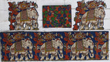 BEPBBSET-Kalamkari patch set  for saree with border,blouse and patches